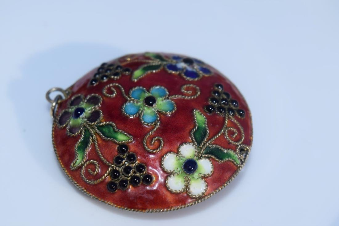 Vintage Cloisonne Grape Pendant