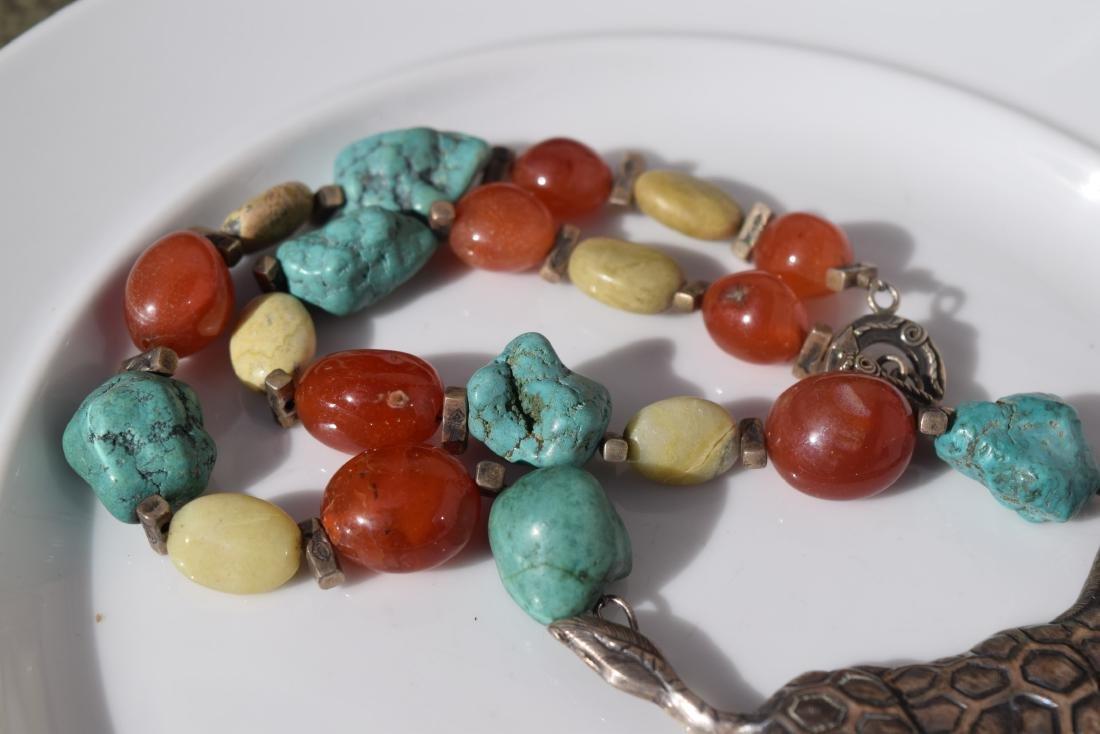 Vintage Silver Giraffe Necklace, including Carnelian - 5
