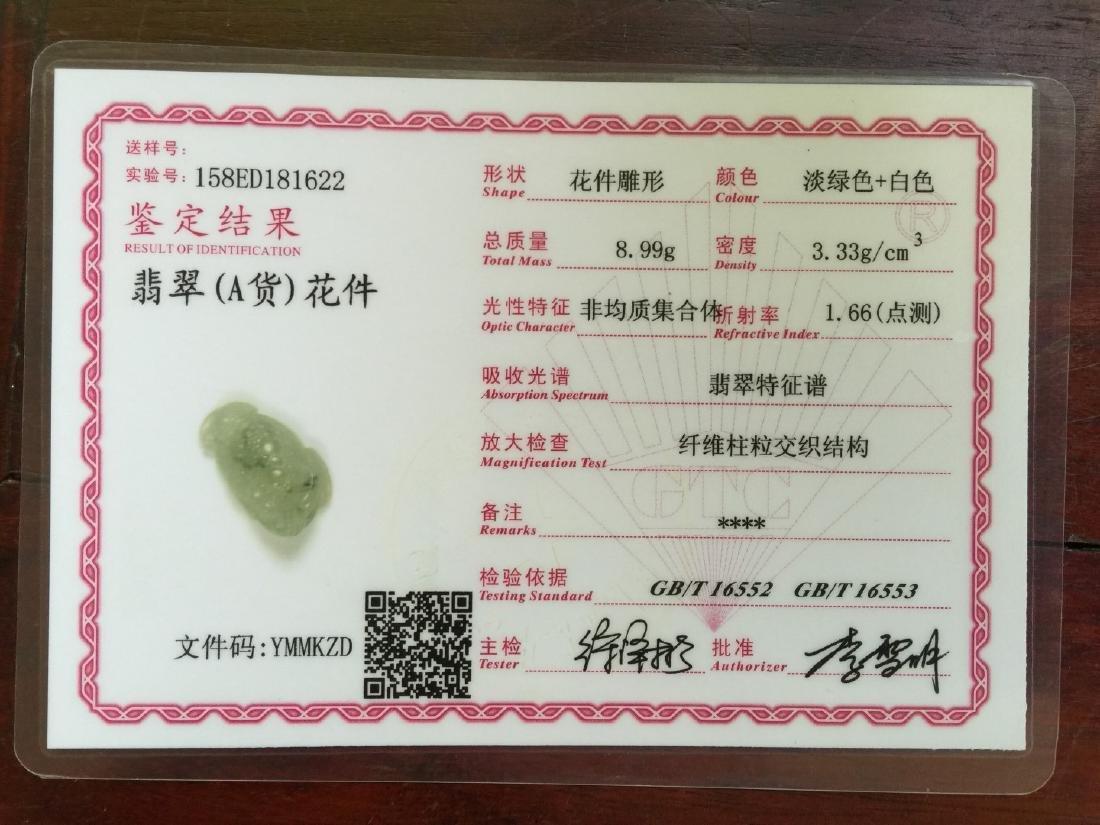 Natural Jadeite Frog Pendant - 3