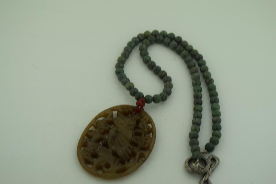 Vintage Chinese Jade Necklace - 2