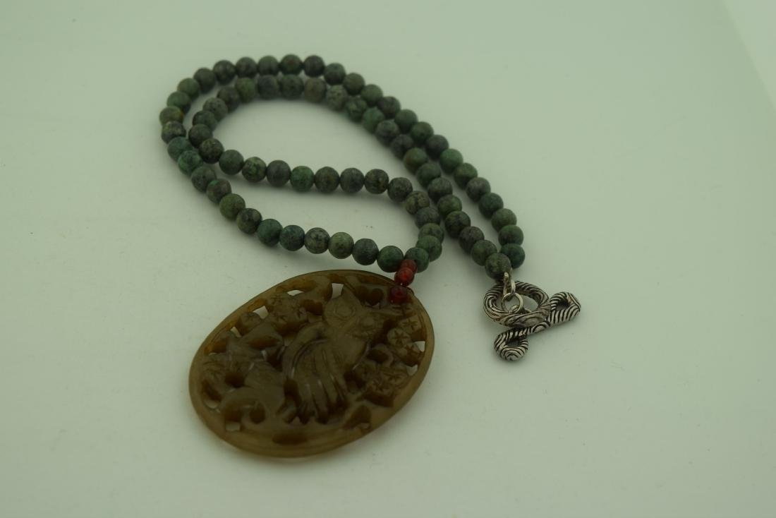 Vintage Chinese Jade Necklace - 4