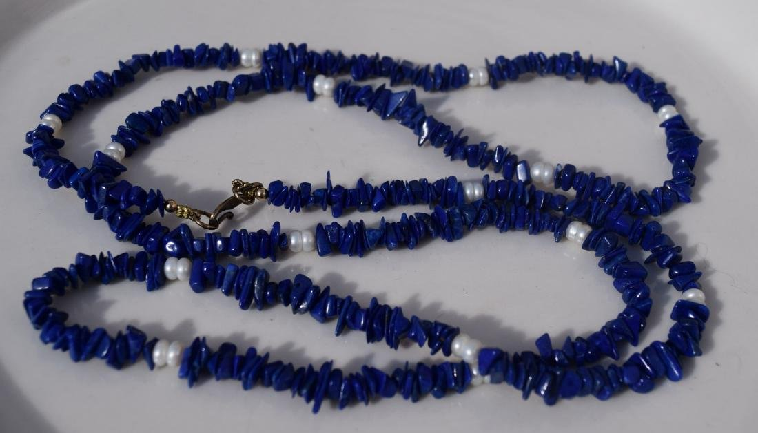Vintage Lapis Necklace - 2