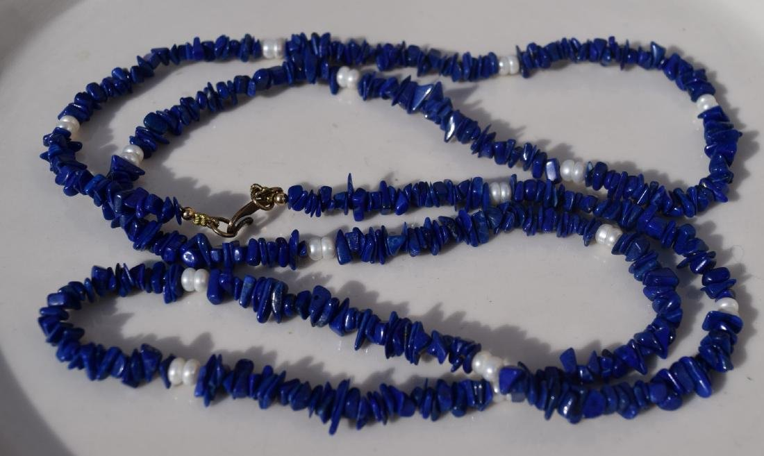 Vintage Lapis Necklace - 3