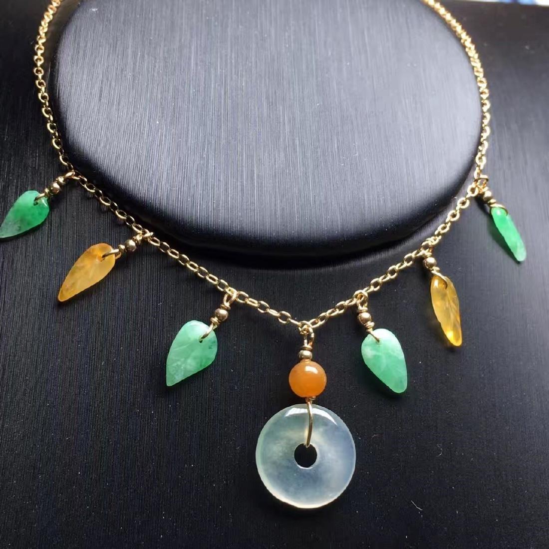 18K Gold Jadeite Necklace