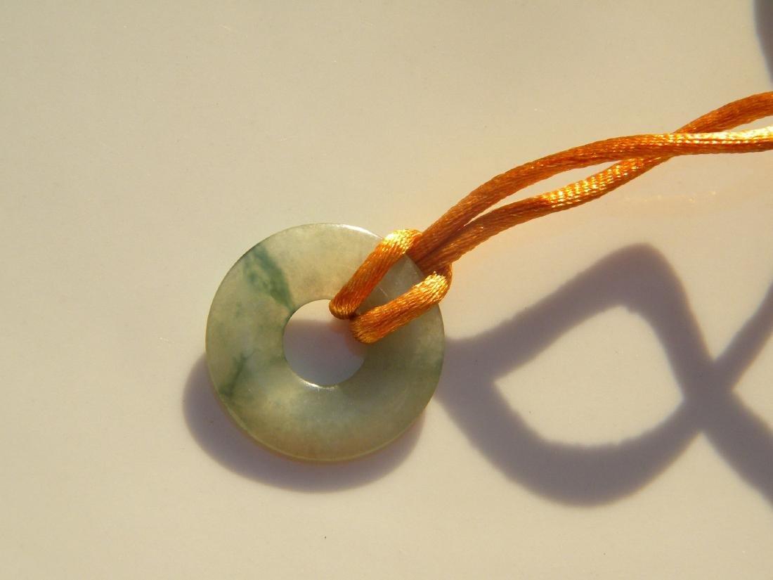 A Jadeite Circle Pendant - 3