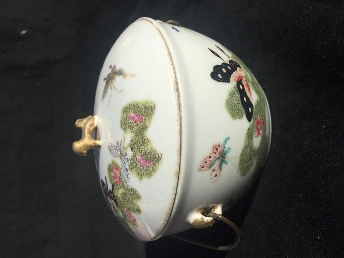 Antique Chinese Famille Rose Soup Pot with Cover - 10