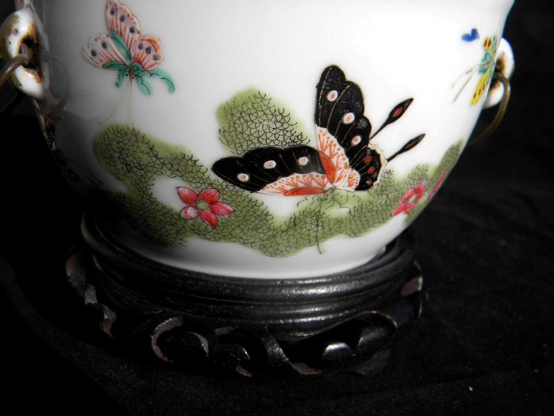Antique Chinese Famille Rose Soup Pot with Cover - 3