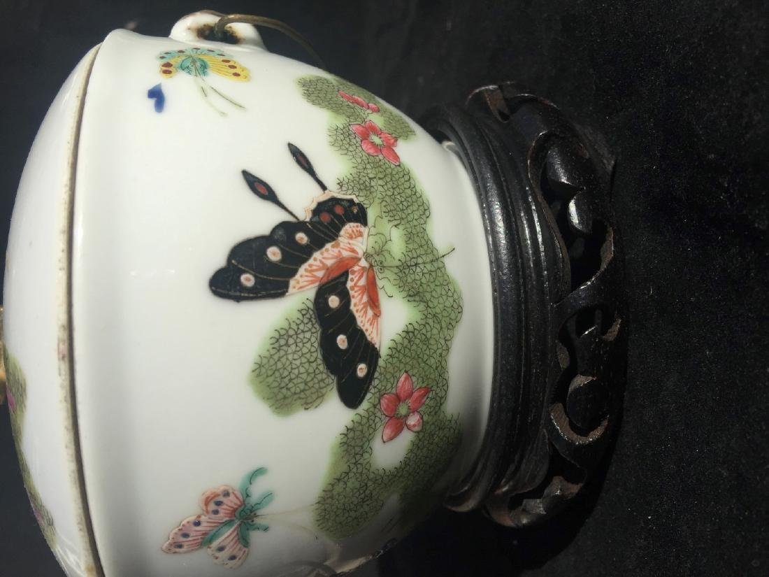 Antique Chinese Famille Rose Soup Pot with Cover - 6