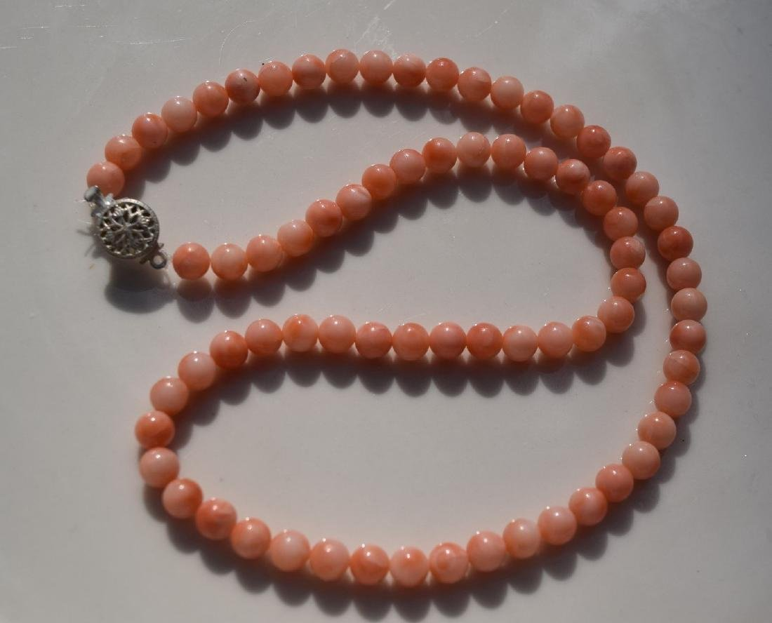 A PINK CORAL NECKLACE - 2