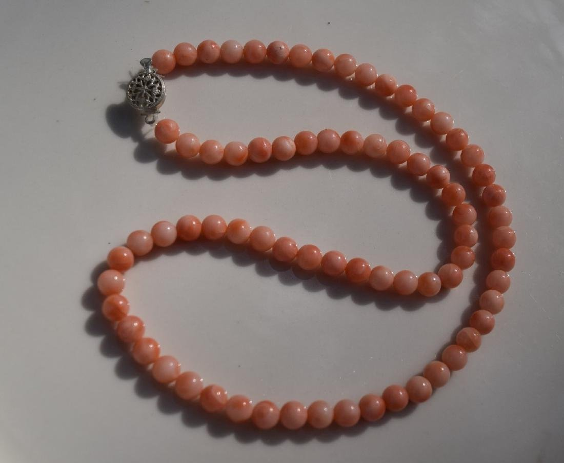 A PINK CORAL NECKLACE - 3