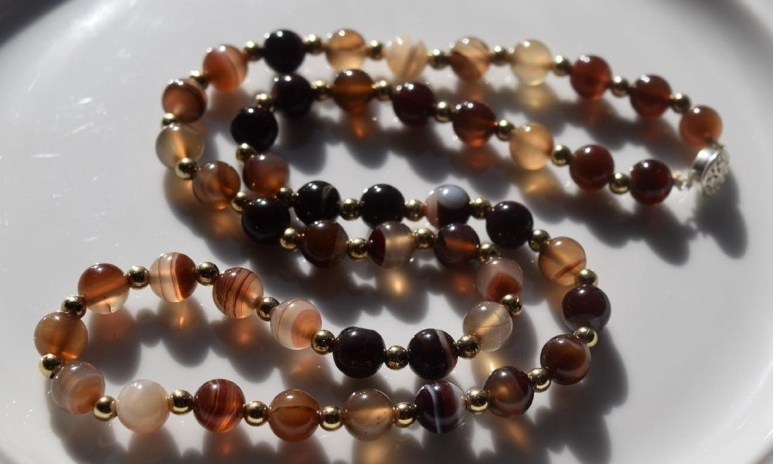 Vintage Carnelian Bead Necklace - 2