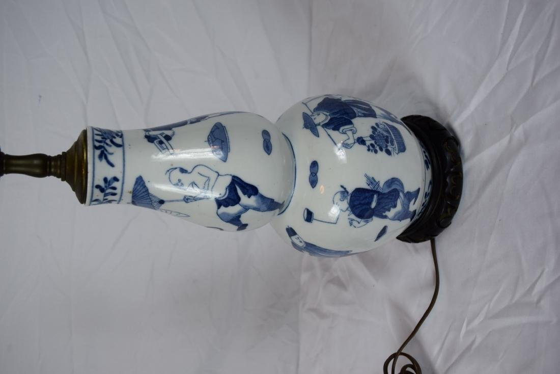 Antique Chinese Blue and White Gourd Vase, Guanxu - 4