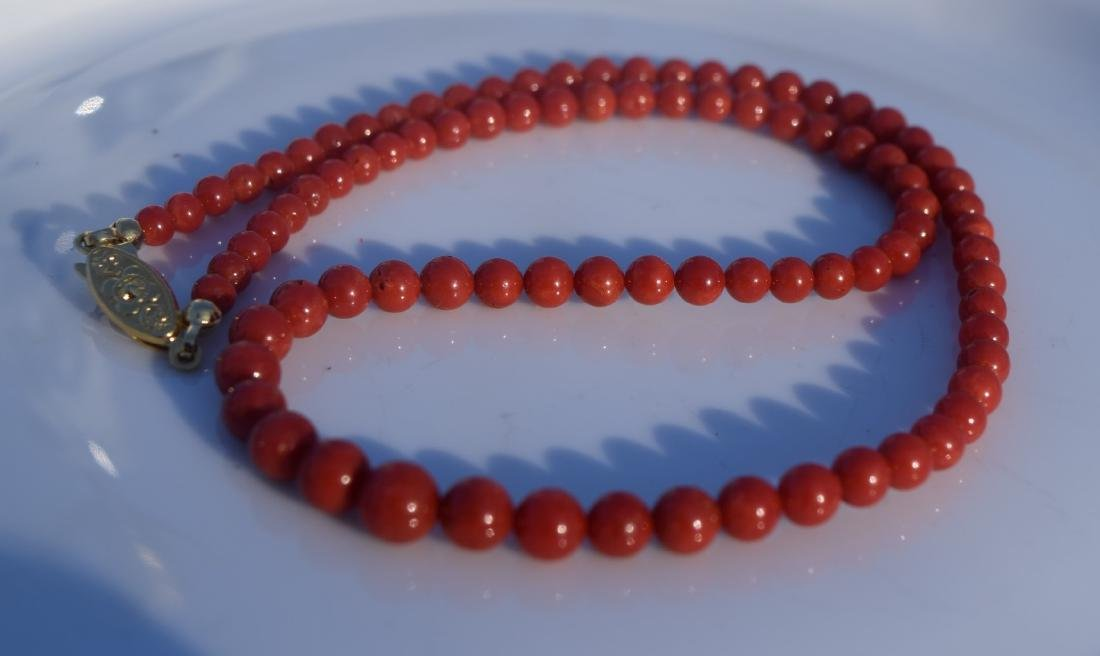 Antique Red Coral Necklace - 2