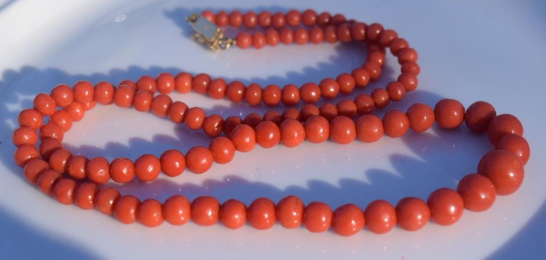 Antique Red Coral Necklace