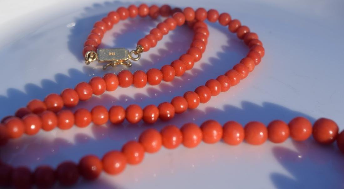 Antique Red Coral Necklace - 3