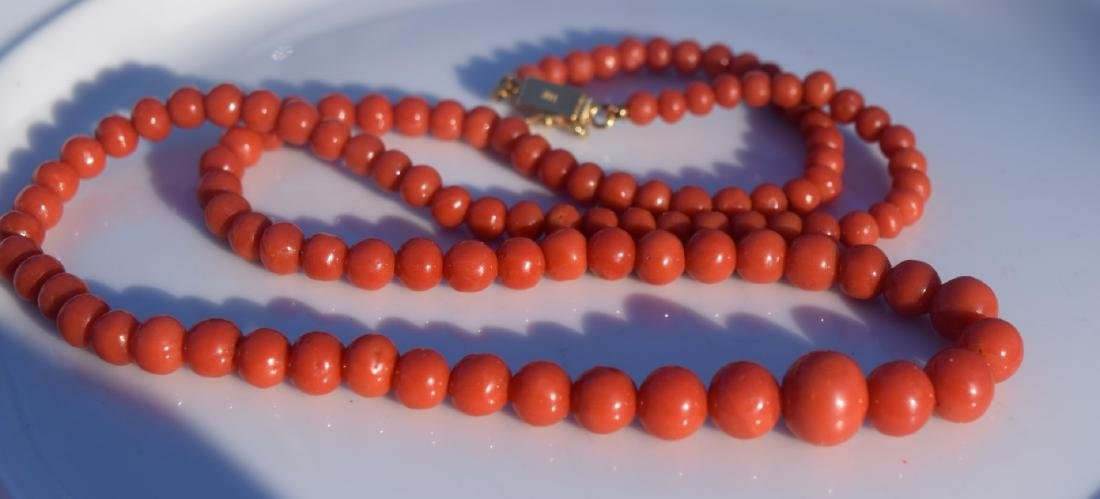 Antique Red Coral Necklace - 4