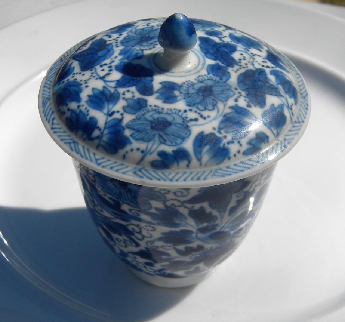 Antique Chinese Blue and White Tea Cup Kangxi Period