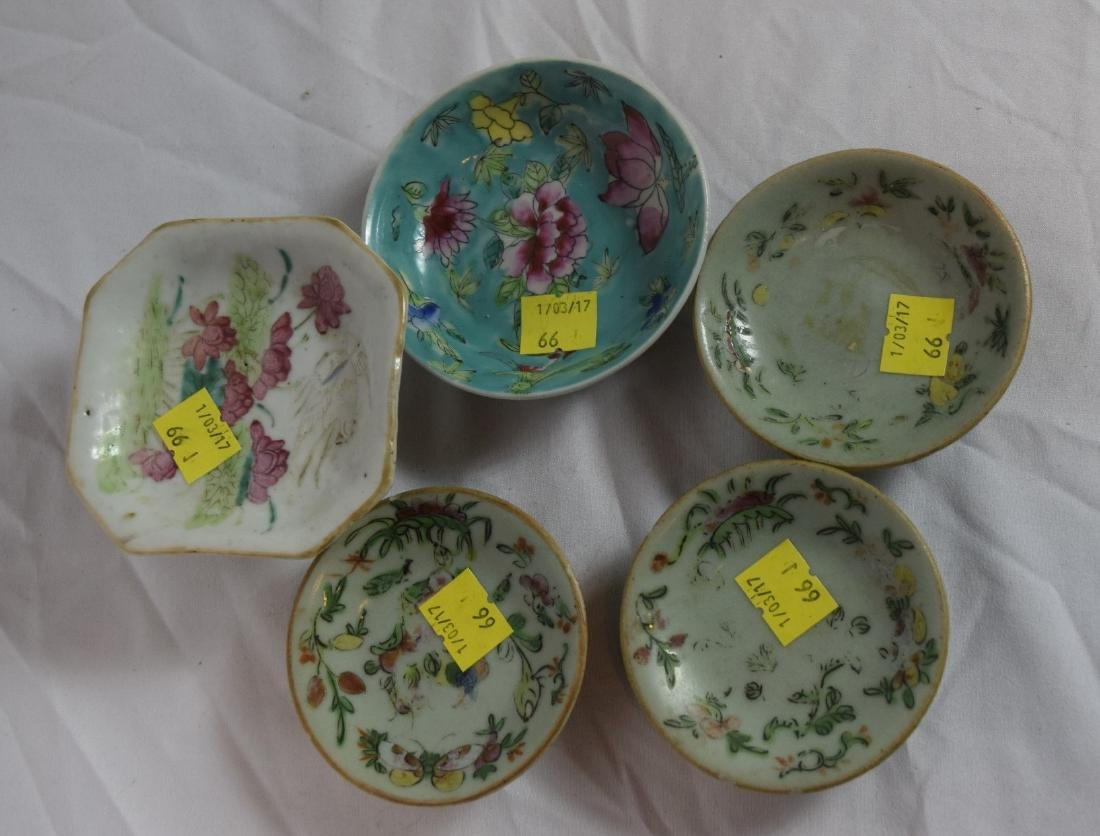 Group of Chinese Famille Rose Dishes