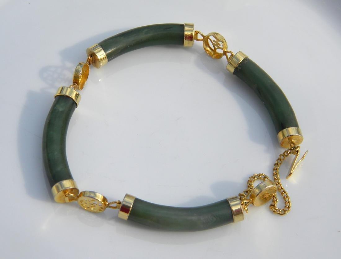 Natural Nephrite Green Jade Bracelet