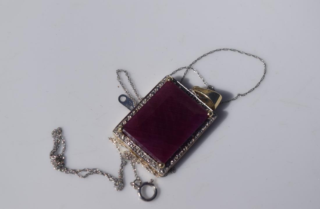 14K Gold Natural Ruby Pendant