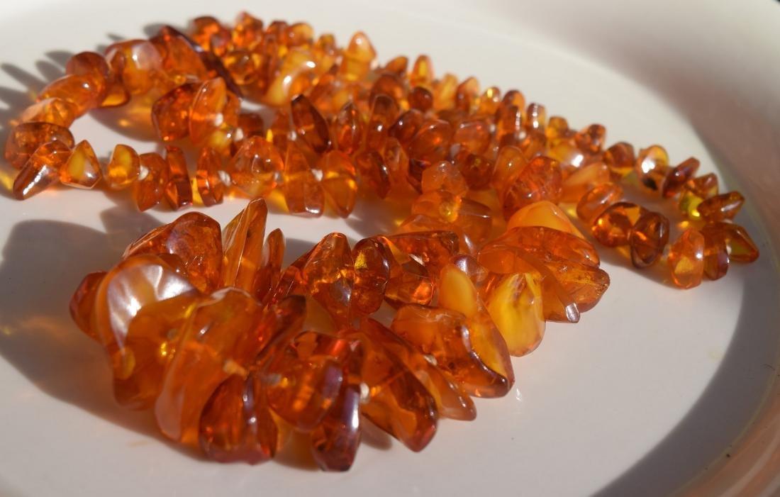 A Huge Amber Necklace