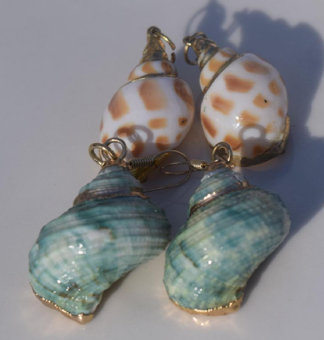 Two Pairs of Shell Earrings