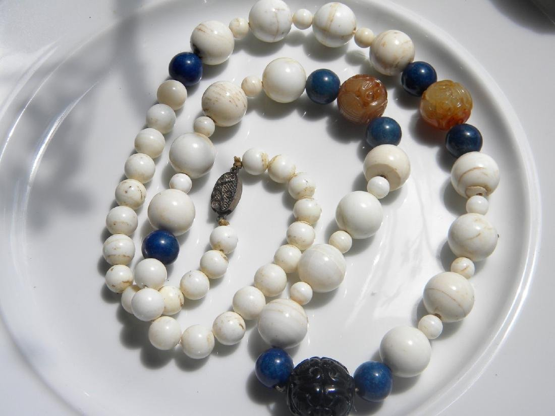 Antique Chinese Mother-of-Pearl Shell Necklace