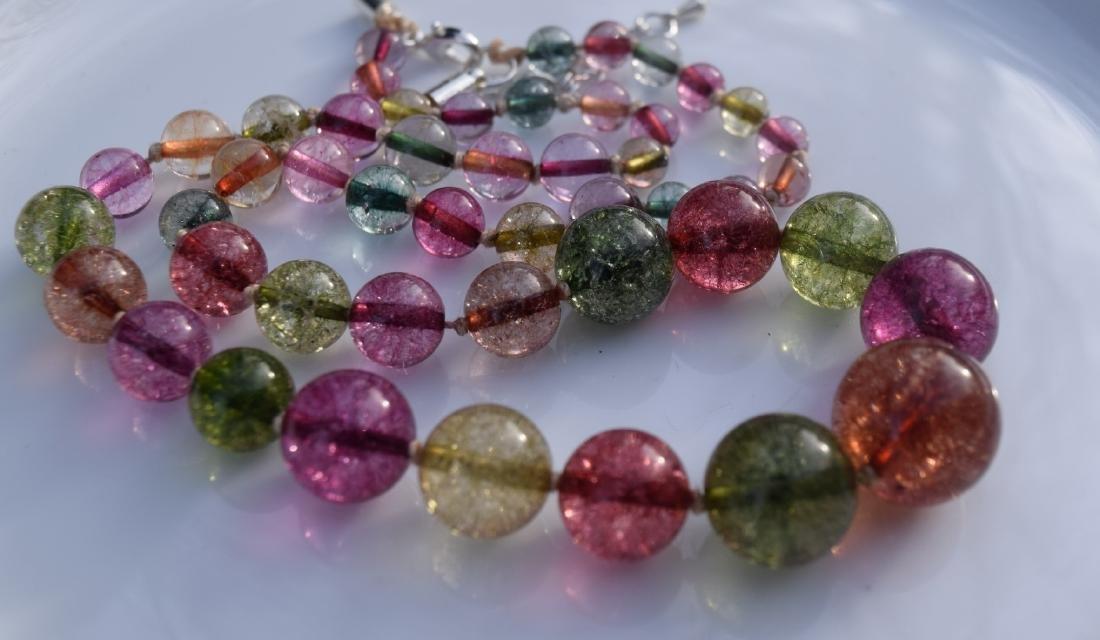 A Tourmaline Bead Necklace