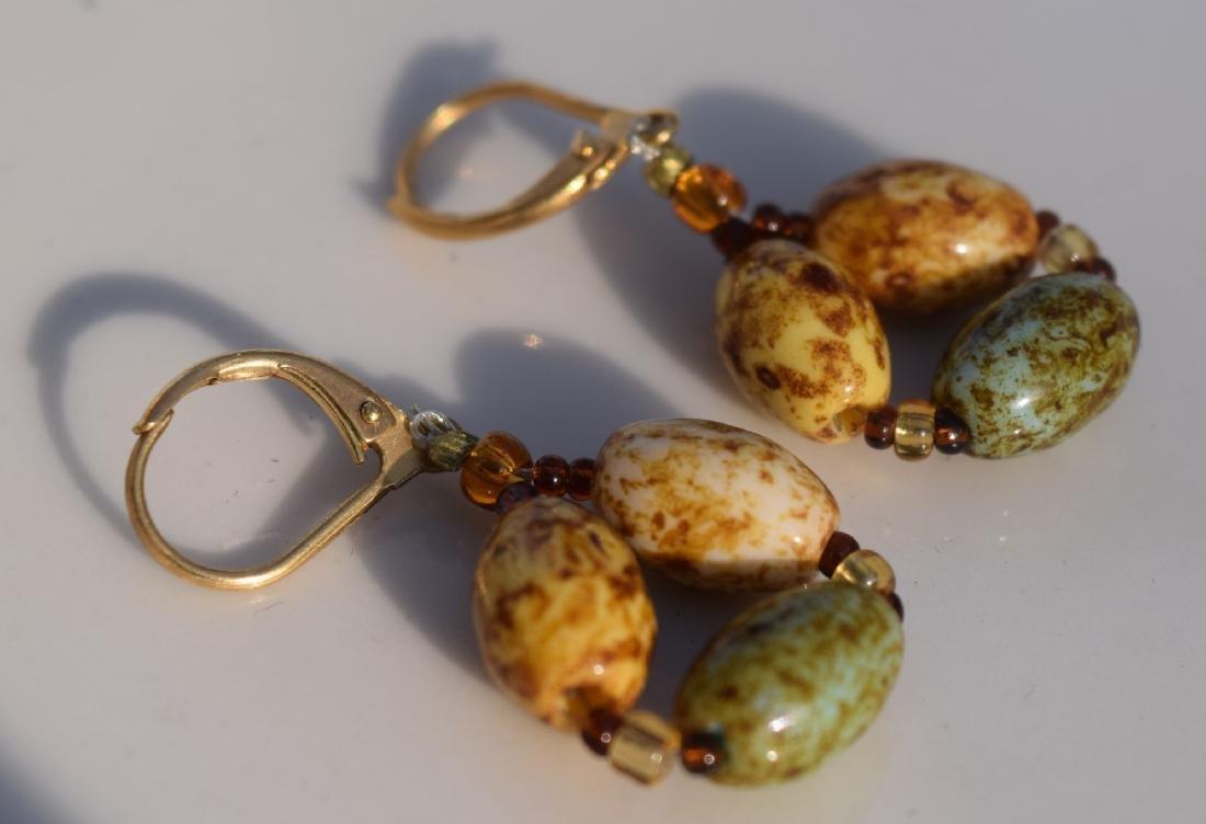 Pair of 14K Gold Beads Earrings