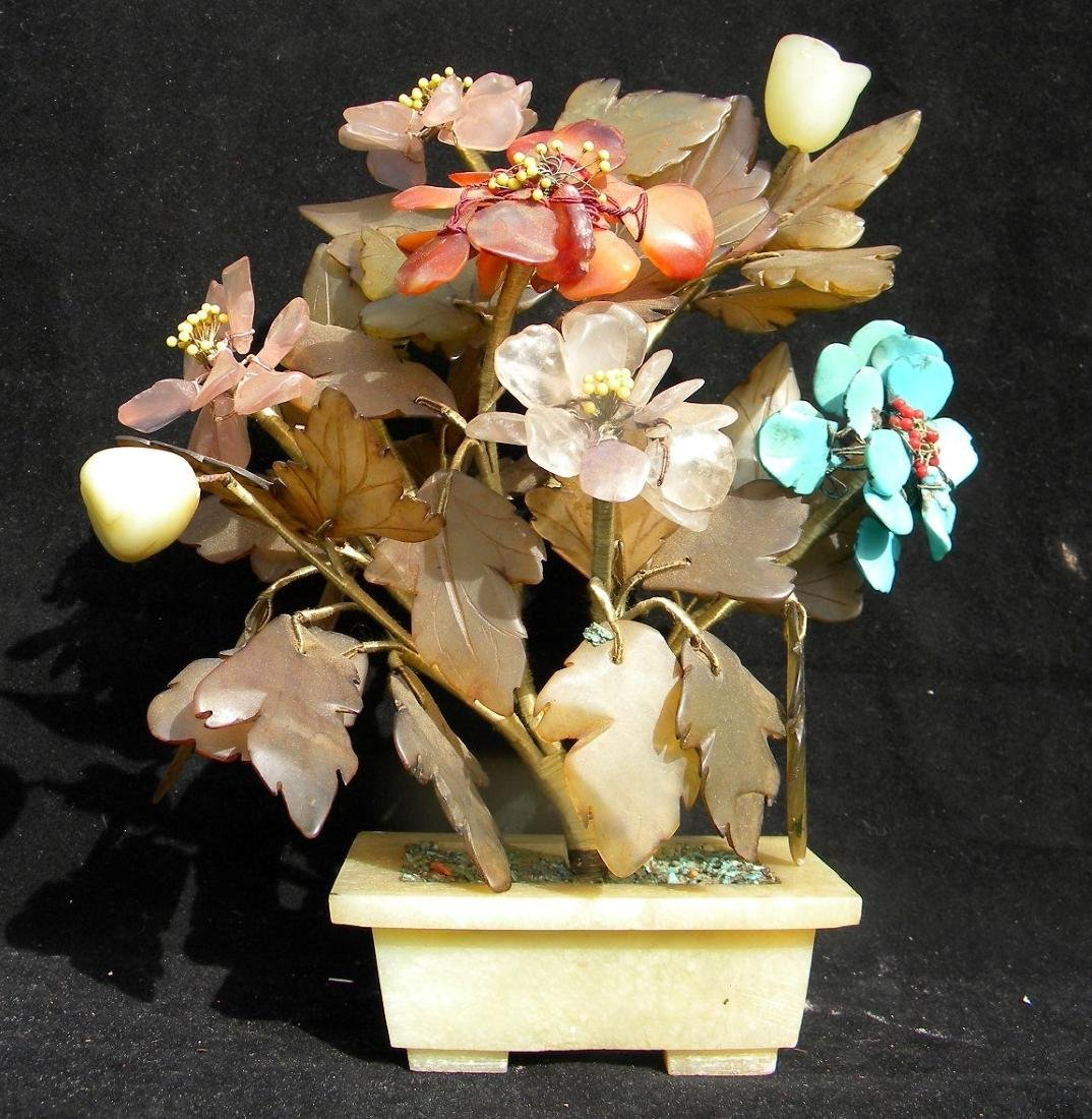 Vintage Turquoise and Jade Flower Planter