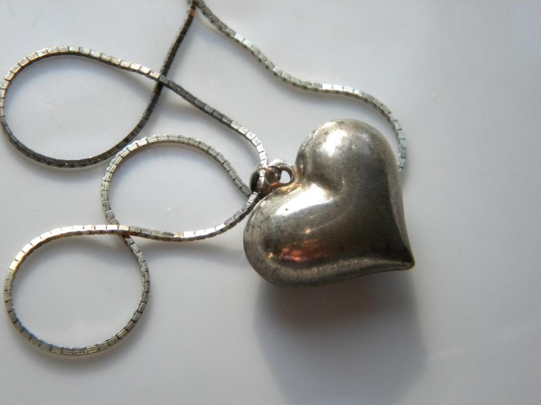 Sterling Heart Shape Pendant Necklace