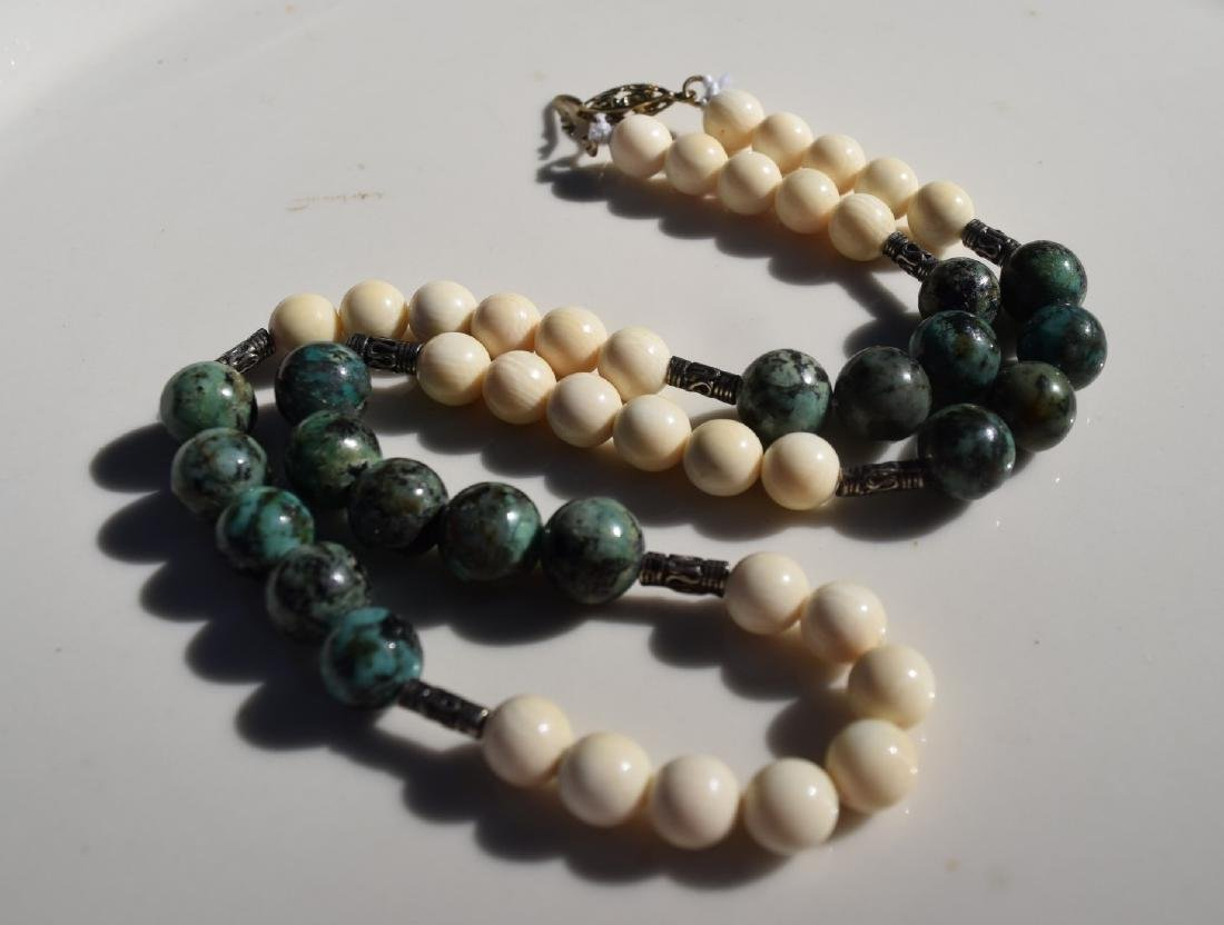 """Vintage Chinese Bead Necklace, length 20"""""""