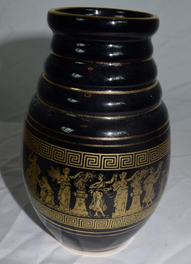 24K Gold Paint Greece Vase