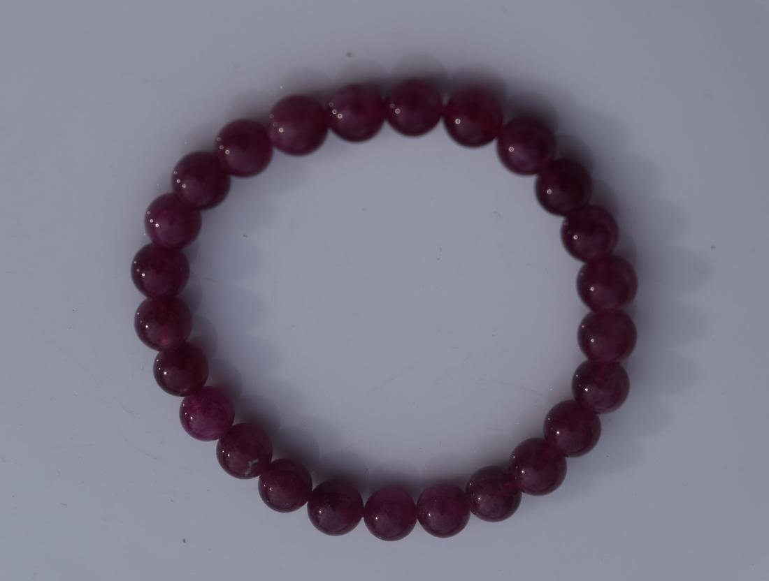Vintage Natural Tourmaline Beads Bracelet
