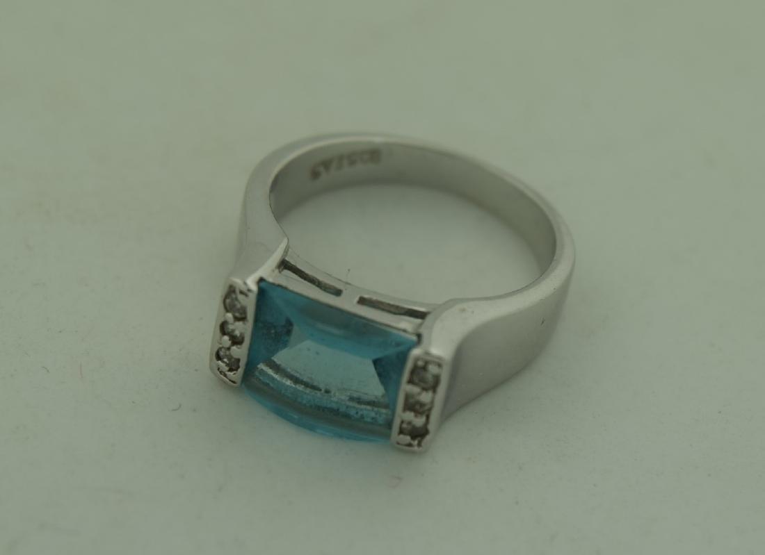 Vintage Sterling Blue Ring