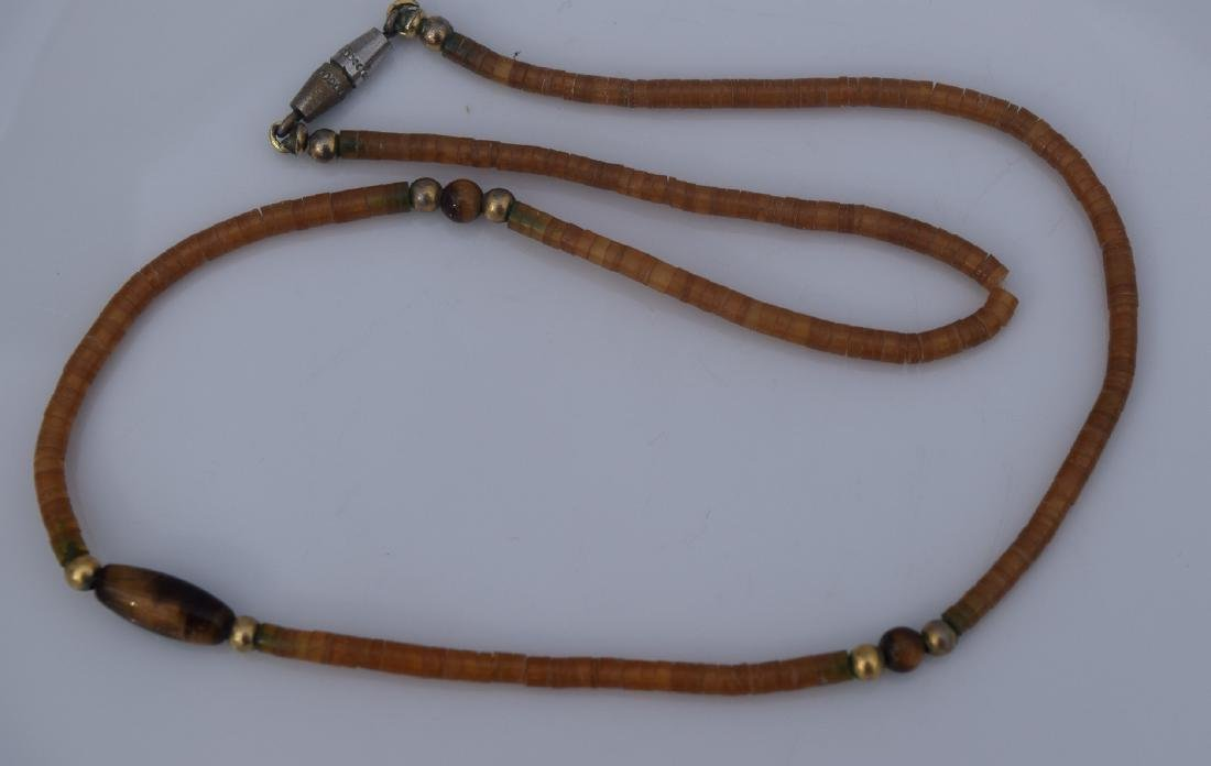 Vintage Amber Tiger Eye Bead Necklace