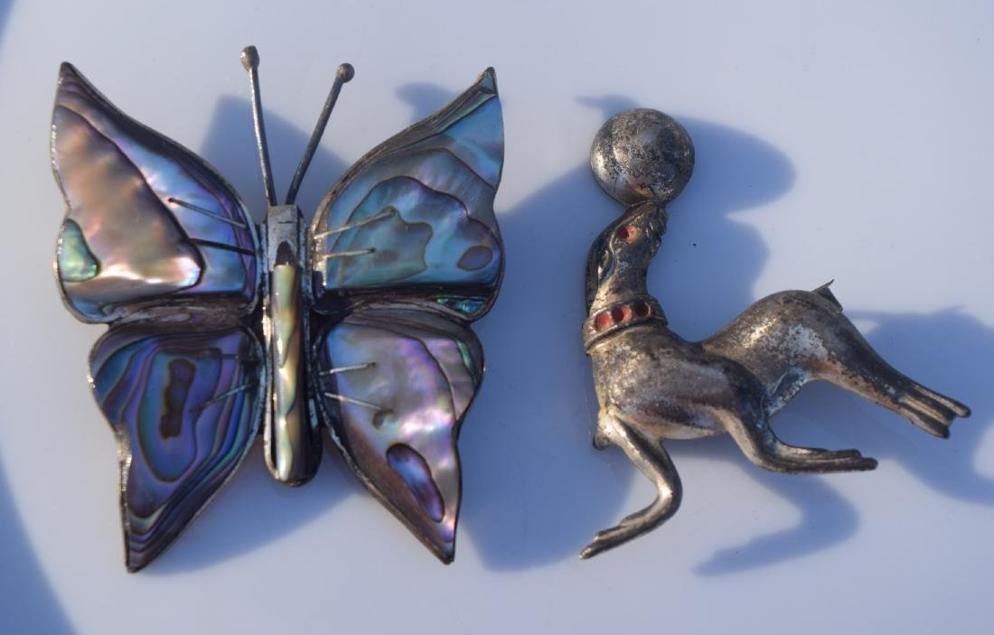 Two Sterling Brooch Pins