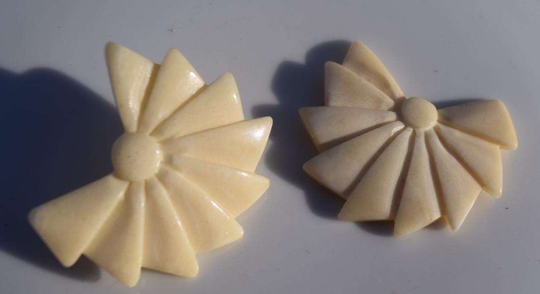 Pair of Carved Earrings