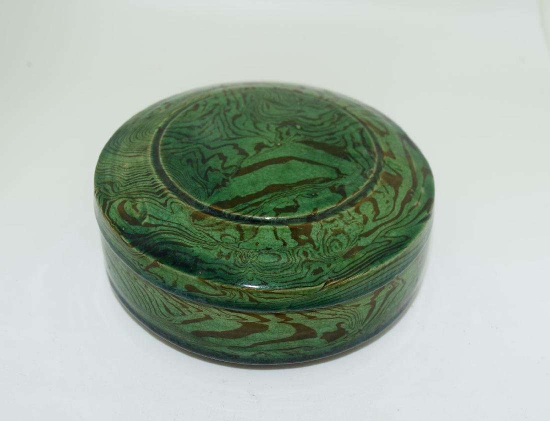 Antique Chinese Tang Dynasty Jiao Tai Porcelain Box