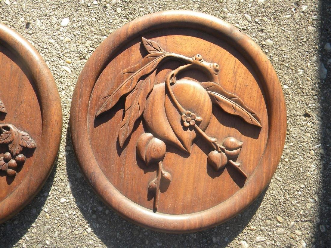 Pair of Antique Chinese Carved Rosewood Panels - 3