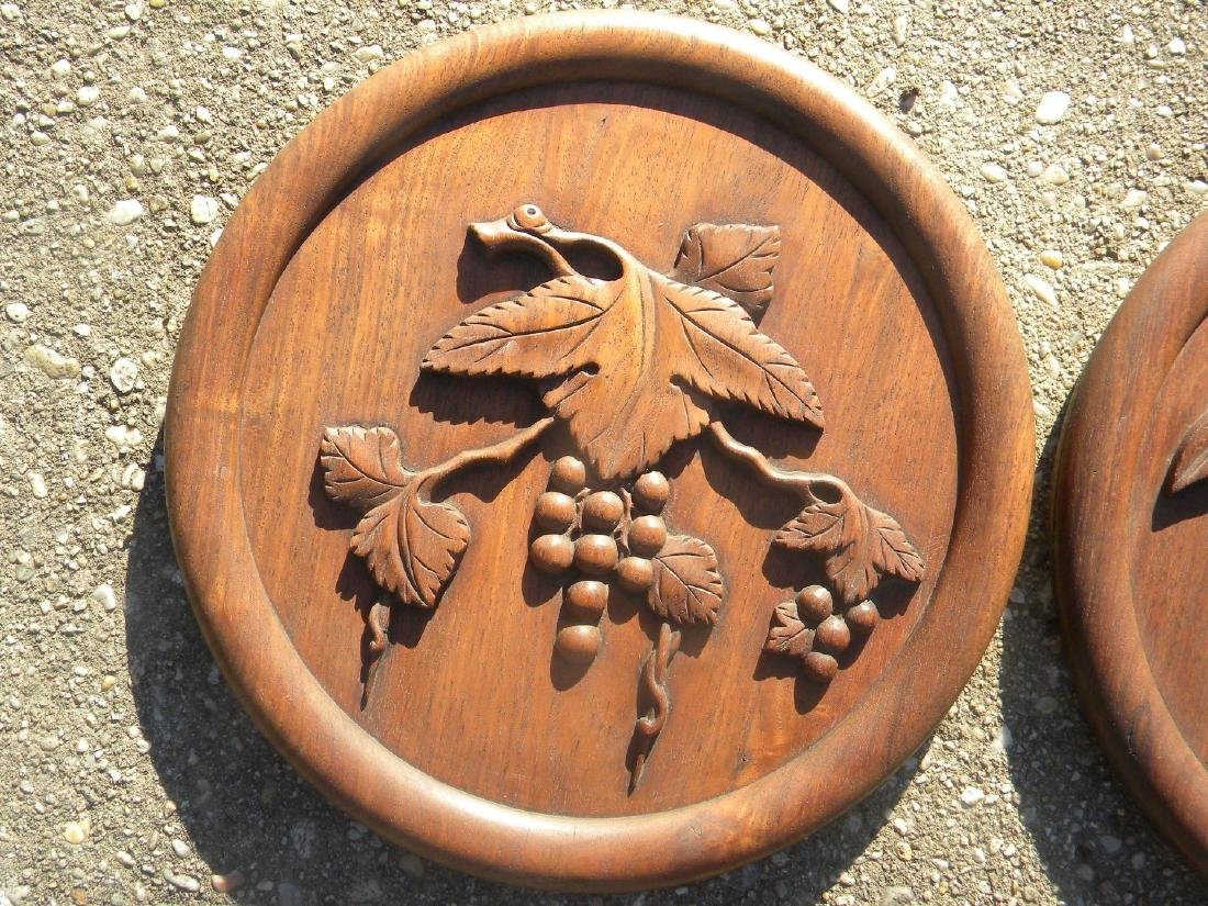 Pair of Antique Chinese Carved Rosewood Panels - 5