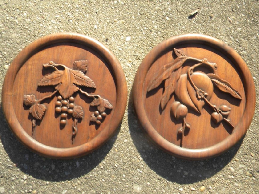 Pair of Antique Chinese Carved Rosewood Panels - 6