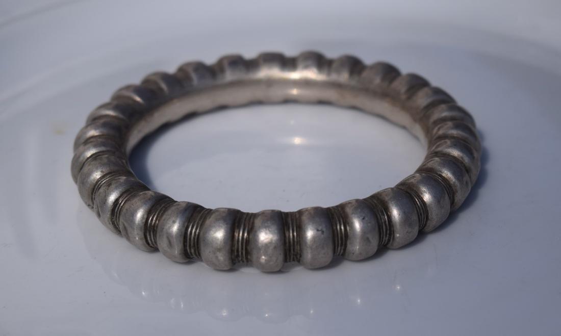 Antique Chinese Silver Bangle Bracelet