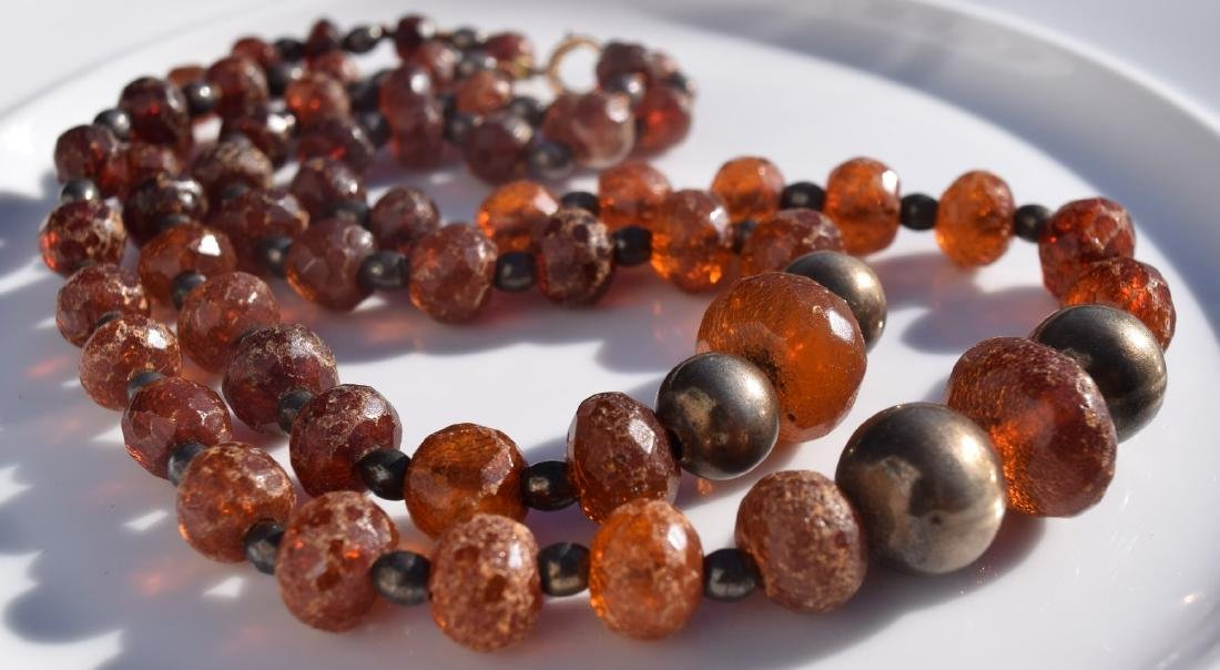 Two Strings Antique Amber Necklaces