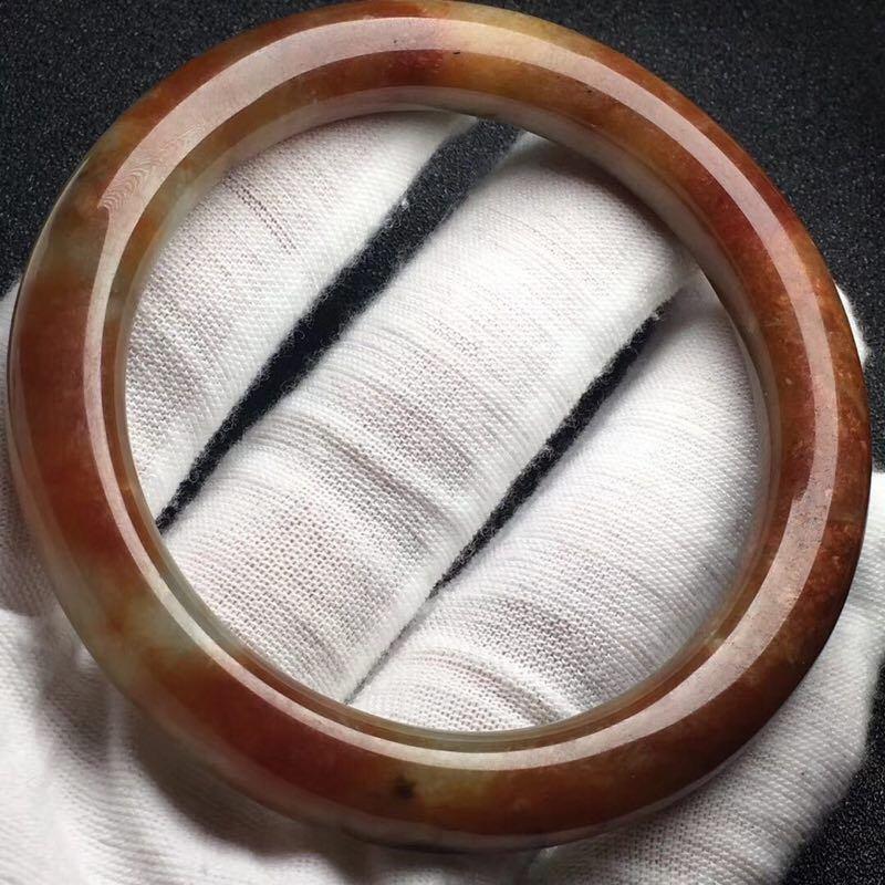 Natural Red Jadeite Bracelet