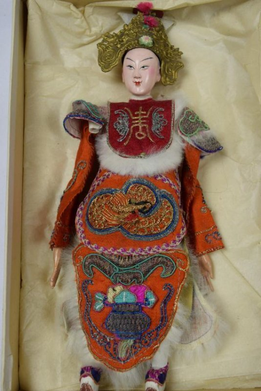 """Antique Chinese Opera Doll, size: 12"""""""