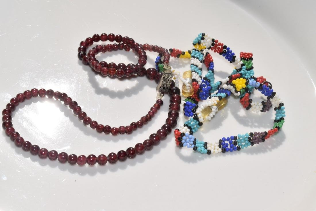 Group of Vintage Jewelry, one is garnet necklace