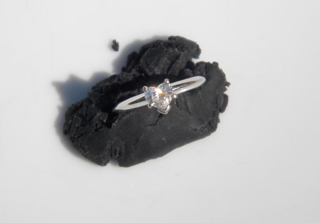 Vintage 14K Gold Heart Shape Diamond Ring