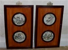 Pair of Antique Chinese Eight Immortals Porcelian