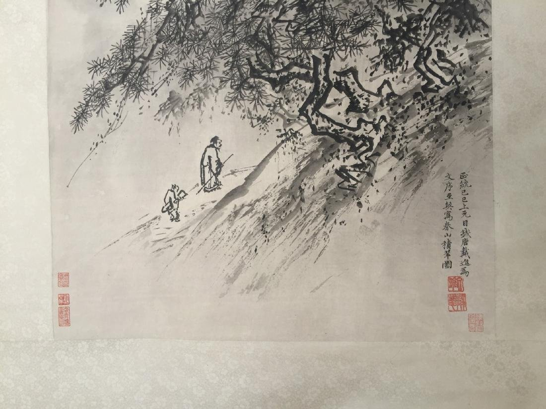 CHINESE SCROLL PAINTING Mountain Scene - 2